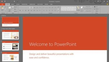 PowerPoint sous Office 16
