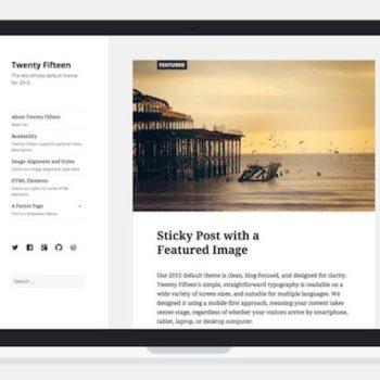 WordPress 4.1 : thème Twenty Fifteen