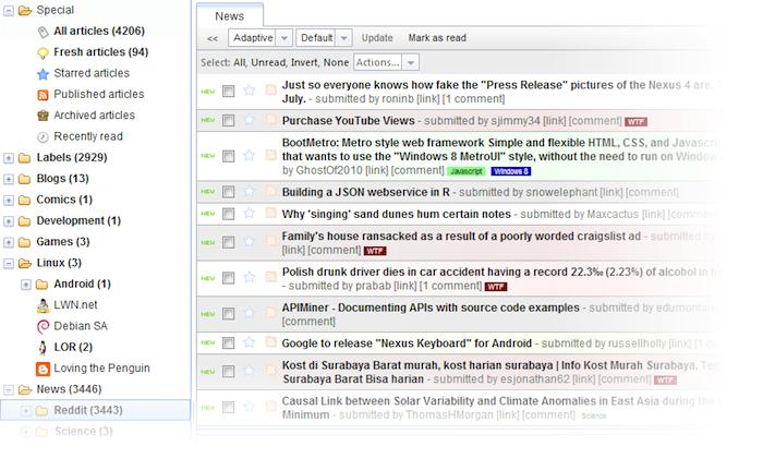 Remplacez Google Reader par un Raspberry Pi et Tiny Tiny RSS