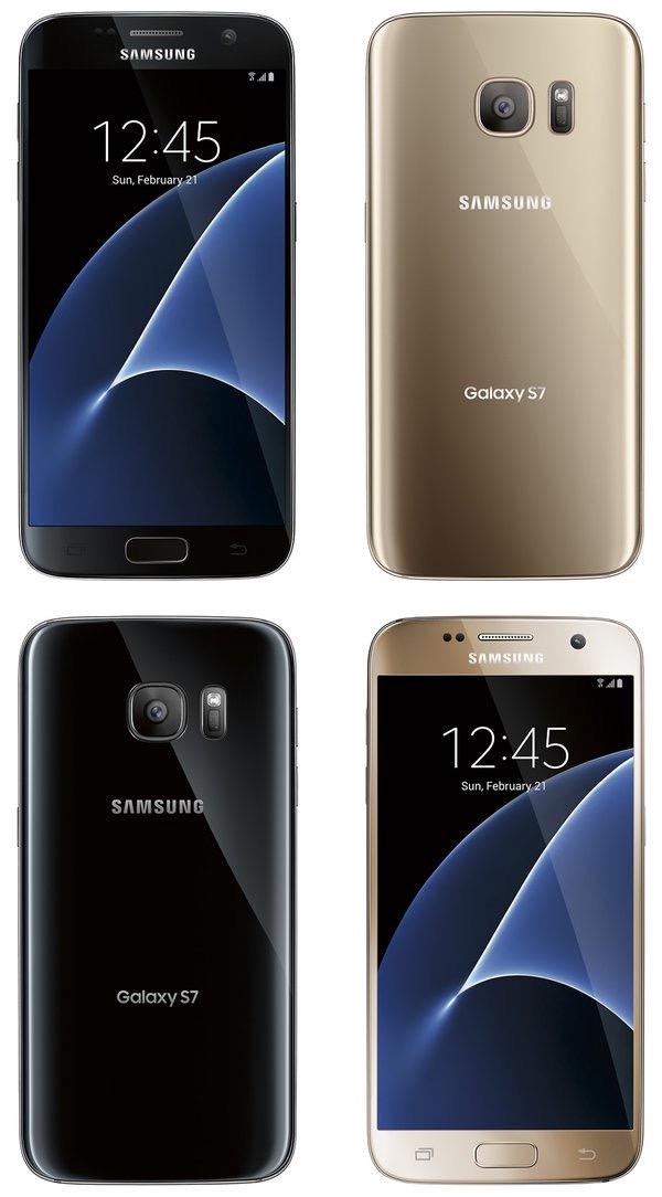 Rendus pour le Samsung Galaxy S7 Edge