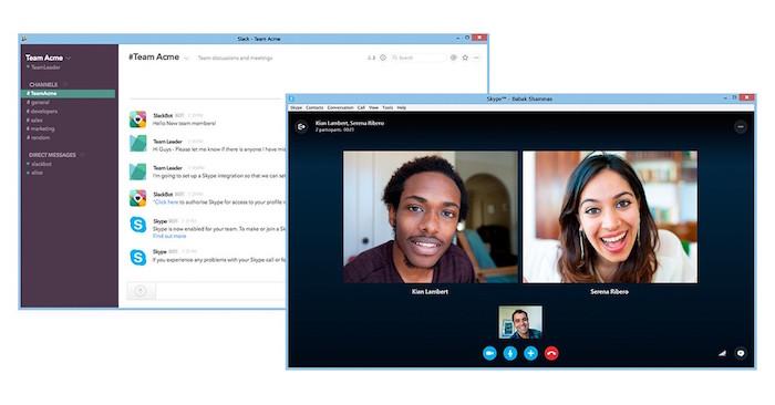 Vous pouvez maintenant lancer des appels Skype à partir de Slack
