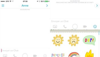 Snapchat Chat 2.0 : collection d'autocollants