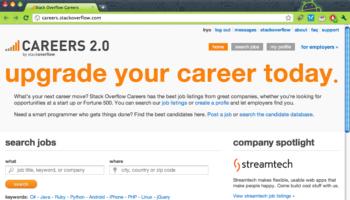 Lancement de Stack Overflow Careers 2.0