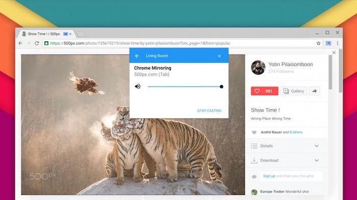 Le support du Chromecast va être natif dans le navigateur Chrome