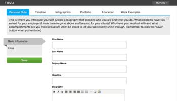 Transformez votre CV en une véritable infographie avec Re.vu