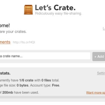 Trois nouvelles et superbes façon de partager des fichiers en ligne – Crate téléchargement d