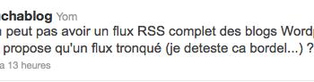 Sondage : Pour ou contre de tronquer un article pour un flux RSS ?
