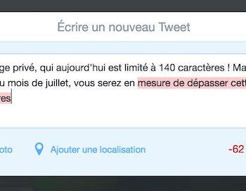Twitter abandonne la limite de 140 caractères des DM