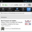 Twitter met à jour son site Web mobile – Twitter version mobile sur un téléphone Galaxy S – Onglet Découvrir