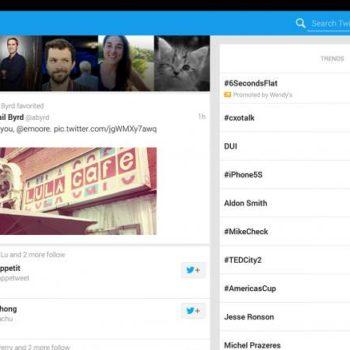 Une nouvelle vue pour Twitter sur Android
