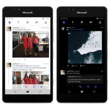 Twitter pour Windows 10 Mobile