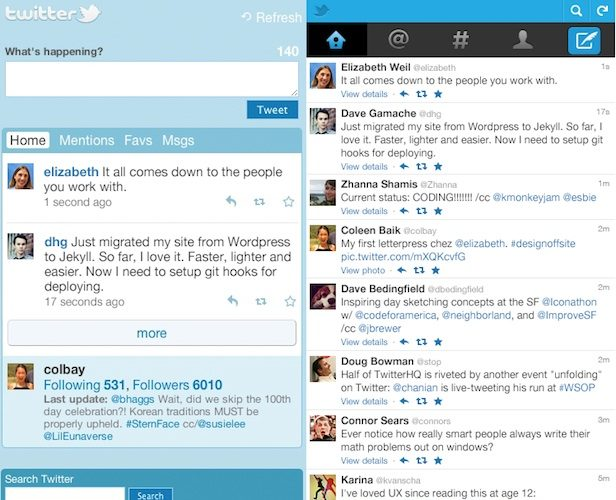 Twitter : Support JavaScript, et améliorations du widescreen à venir sur le site mobile
