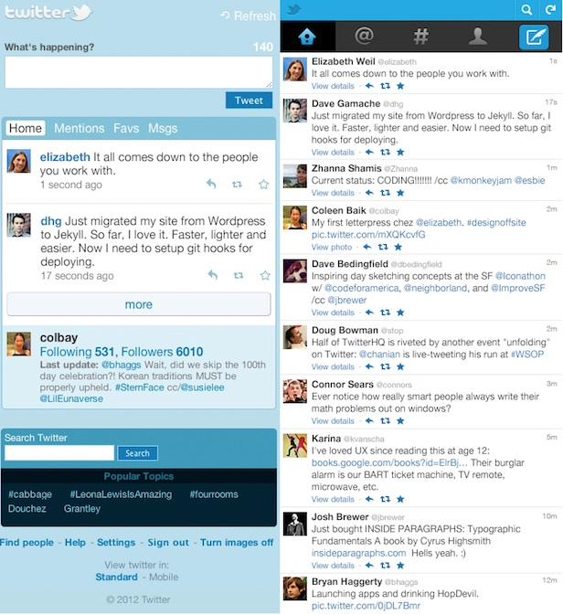 Twitter : Support JavaScript, et améliorations du widescreen à venir sur le site mobile