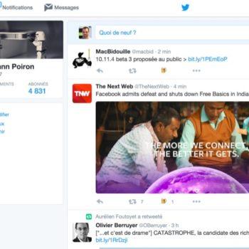 La nouvelle timeline de Twitter est arrivée