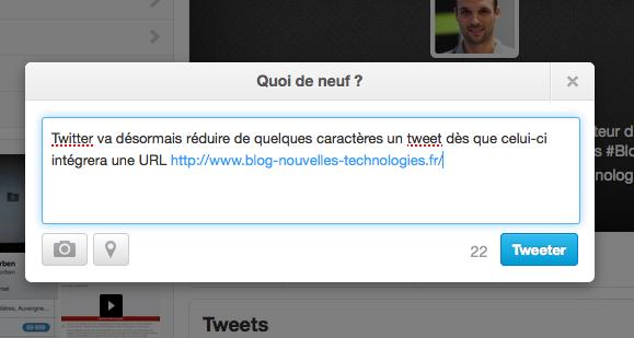 Twitter veut que vous soyez bref lorsque vous postez avec une URL