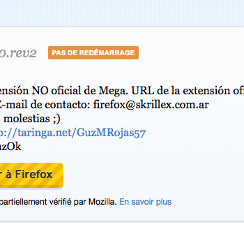 Une extension pour Firefox pour Mega, le service de stockage sur le cloud de Kim Dotcom – Lancement de l