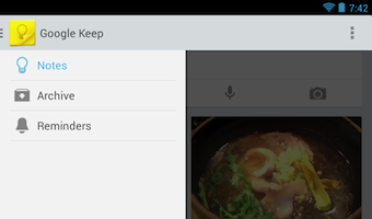 Google Keep arrive avec le menu contextuel commun aux applications mobile Google