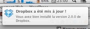 Une mise à jour du client Dropbox améliore l