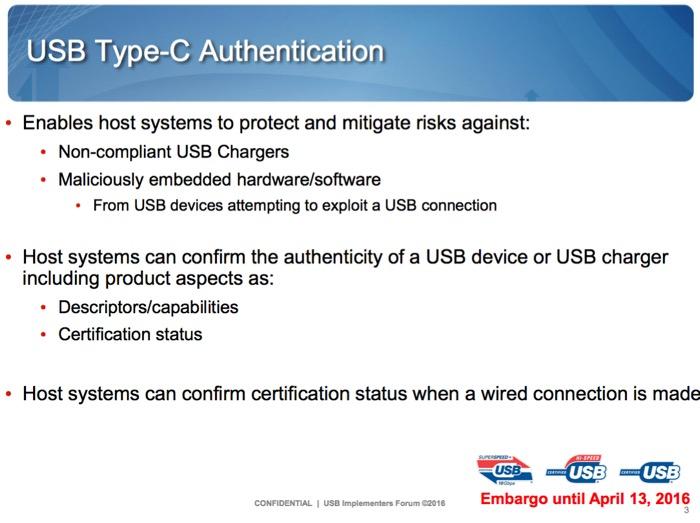 Le port USB Type-C va protéger votre matériel des chargeurs douteux, ou des clés USB