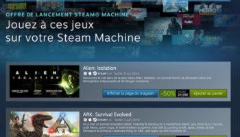 Valve offre des réductions sur sa gamme de jeux sur Steam Machines