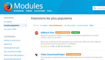 Vérifiez vos extensions Firefox aujourd