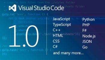 Visual Studio Code passe à la version 1.0, et recense un demi-million d
