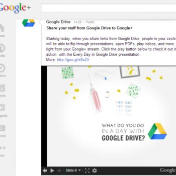 Votre flux Google+ se synchronise désormais avec Google Drive