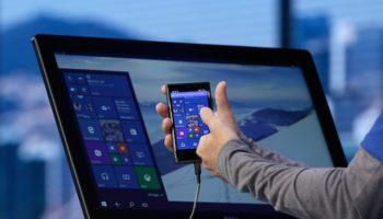 Certains smartphones sous Windows 10 pourront se transformer en PC