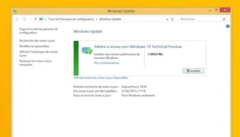 Mettre à niveau vers Windows 10 Technical Preview