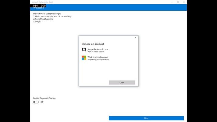 Windows Authenticator repéré en version bêta sur le Windows Store