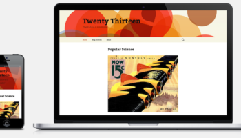 Nouveau thème Twenty Thirteen met l