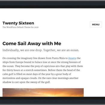 WordPress 4.4 et le thème Twenty Sixteen