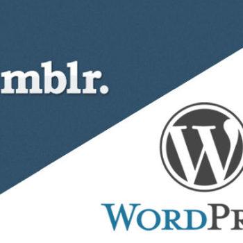 WordPress mentionne que les blogs Tumblr ont été exportés à gogo après l