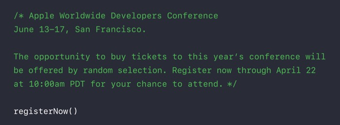 WWDC 2016 : informations logistiques