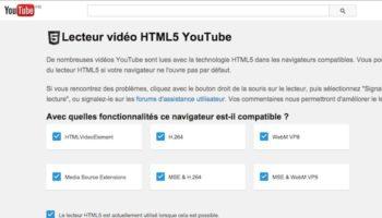 YouTube met à la porte Flash, et pousse la vidéo HTML5 par défaut