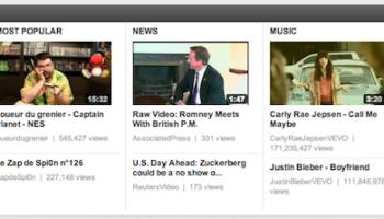YouTube teste encore une autre interface page d