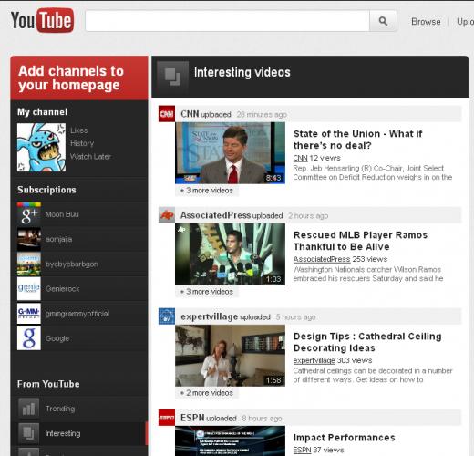 Youtube va lui aussi avoir sa refonte (Google+, abonnements, …) ! – Nouvelle interface Youtube