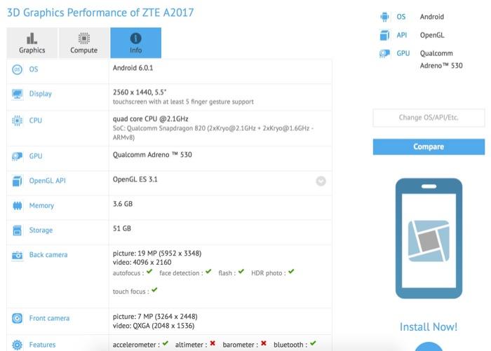 ZTE pourrait sortir une suite pour son smartphone phare Axon