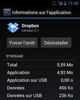 23 Go sur votre Dropbox depuis votre Android c