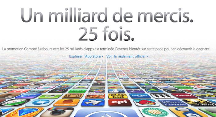 25 milliards de téléchargement d