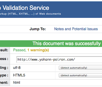 5 outils en ligne pour tester vos sites – W3C Markup Validation Service