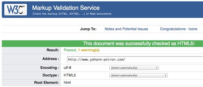 5 outils en ligne pour tester vos sites - W3C Markup Validation Service