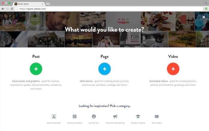 Adobe a créé les applications Spark comme des outils pour aider quiconque sans expérience de devenir un créatif