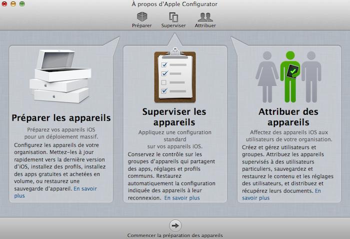 Apple publie Configurator, une application pour améliorer la gestion des dispositifs iOS
