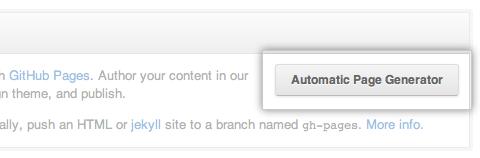 Automatic Page Generator : GitHub permet de générer votre propre skin pour vos pages de projet