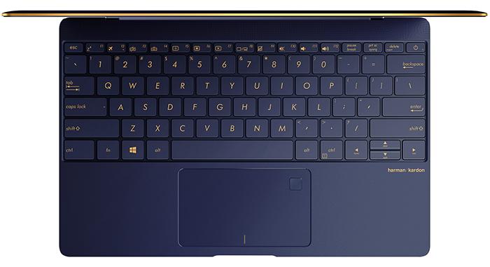 ASUS ZenBook 3 : vue de dessus