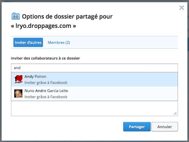 Dropbox ajoute le partage sur Facebook