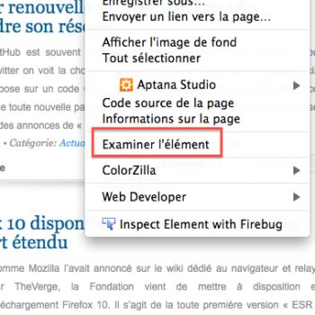 Firefox ajoute des outils de développement – Examiner l