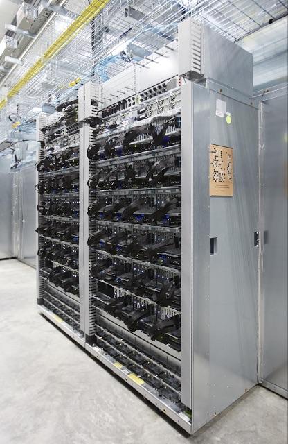 Intégration de la puce TPU dans les datacenters de Google