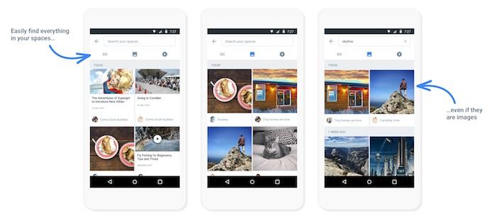 Google Spaces : recherche